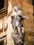 Statue on a street of Valletta Stock Images