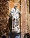 Statue on a street of Valletta Stock Image