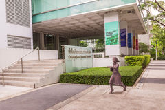 Statue of student or scholar or collegian at the Faculty of Art, Chulalongkorn University, Thailand Royalty Free Stock Photography