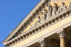 Statue su costruzione fotografie stock libere da diritti