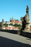 Statue sul ponticello del Charles, Praga Fotografia Stock Libera da Diritti