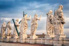 Statue sul tetto Immagine Stock