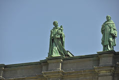 Statue sulla regina di Maria della cattedrale del mondo Fotografie Stock Libere da Diritti
