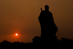 Statue in the sunset Royalty Free Stock Photos