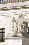Statue at Supreme Court Stock Image