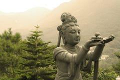 Statue sur l'île de Lantau Images libres de droits