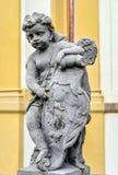 Statue sur la façade de Prague Loreto - monument historique baroque remarquable, Prague photographie stock libre de droits