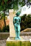 Statue sur la mère et l'enfant Photographie stock libre de droits