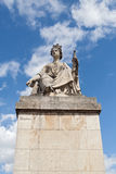 Statue sur la seine bridge pont du carrousel Paris photos stock