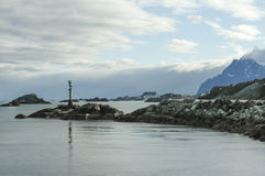 Statue in Svolvaer, Lofoten, Norway Royalty Free Stock Image