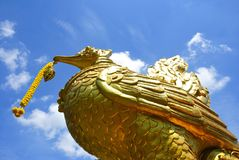 Statue swan Royalty Free Stock Images