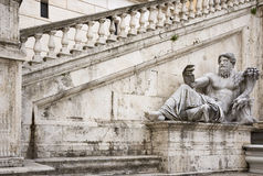 Statue, symbolizing the River Nile. Senators Palace, Rome Royalty Free Stock Photo