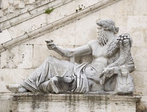 Statue, symbolizing the River Nile. Senators Palace, Rome Royalty Free Stock Photography