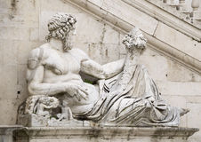 Statue, symbolizing the Tiber River. Senators Palace, Rome Stock Photography