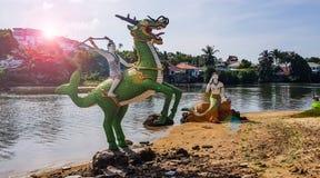 Statue tailandesi del carattere di racconto immagine stock libera da diritti