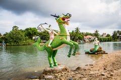 Statue tailandesi di racconto fotografia stock
