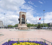 Statue on taksim square in istanbul Stock Photography