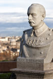 Statue talking heads to Janiculum in Rome, Italy. General Serafini Royalty Free Stock Photo