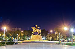The statue of Tamerlane Royalty Free Stock Image