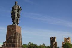 Statue of Tamerlane,. In uzbekistan Stock Images