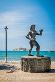 Statue of a Tayrona woman, Santa Marta, Colombia Royalty Free Stock Image