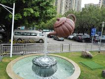 The statue of a teapot Royalty Free Stock Images