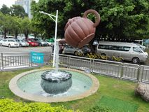 The statue of a teapot Stock Photos