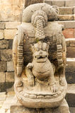 Statue at the temple of Borobudur on Java Stock Photos