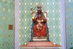 Statue in the temple Na Slovanech (Emmaus), Karlovo náměstí,, Prague, Czech Republic Royalty Free Stock Photos