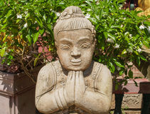 Statue Temple Thailand. UBON RATCHATHANI, THAILAND - July 14: Temple Thailand Royalty Free Stock Image
