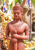 Statue Temple Thailand. UBON RATCHATHANI, THAILAND - July 14: Temple Thailand Royalty Free Stock Photo