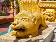 Statue Temple Thailand. UBON RATCHATHANI, THAILAND - July 14: Temple Thailand Royalty Free Stock Photography