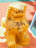 Statue Temple Thailand. UBON RATCHATHANI, THAILAND - July 14: Temple Thailand Royalty Free Stock Images