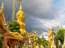 Statue Temple Thailand. UBON RATCHATHANI, THAILAND - July 14: Temple Thailand Stock Photo