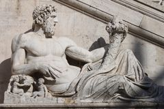 Statue Tevere Royalty Free Stock Photo