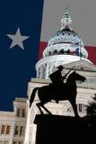 Statue texane à la construction de capitol d'état du Texas image libre de droits