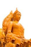 Statue thaïe de Bouddha de cire en festival de bougie Image stock