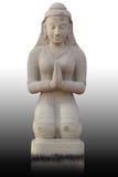 Statue thaïe de fille de type, Thaïlande Images libres de droits