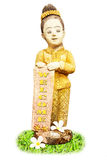 Statue thaïe de jeune fille. Images stock