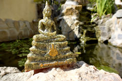 Statue of Thai Buddha in meditation pose. Thai meditation Buddha statue. The meditation Buddha is one of the most common iconic images of Buddhism royalty free stock photography