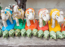 Statue of Thai Elephant in the temple Stock Images