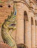 The statue of Thai Naga Royalty Free Stock Image