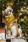The statue of Thai style singha Stock Photos
