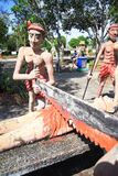 """Statue at Thailand Hell Horror Park. Ones who violate the second of the Five Precepts """"Stealing, Cheating or destroying the others' Properties"""" receive the Royalty Free Stock Photo"""