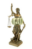 Statue of Themis with money Royalty Free Stock Images