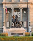 Montana State Capitol monument. Statue of Thomas Francis Meagher in front of the Montana State Capitol in Helena, Montana Stock Photos