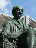 Statue of Thomas Hardy in Dorchester Stock Photos
