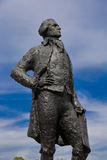 Statue of Thomas Jefferson, by JeanCardot shows him holdingarchitectural drawings of Monticello as he looks at inspiration Hotel Stock Photos