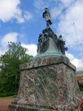 Statue of Thomas Jefferson in UVA. Statue of Thomas Jefferson infront of Rotunda at UVA Grounds, Charlottesville, Virginia Stock Photography