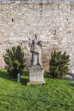 Statue of thomas muentzer at Muehlhausen Stock Photos